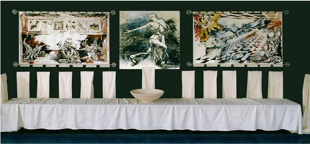 Het Laatste Avondmaal, 1999, mixed media, 400x800x200 cm.